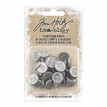 Tim Holtz Idea-ology COUNTDOWN BRADS Fasteners th93679