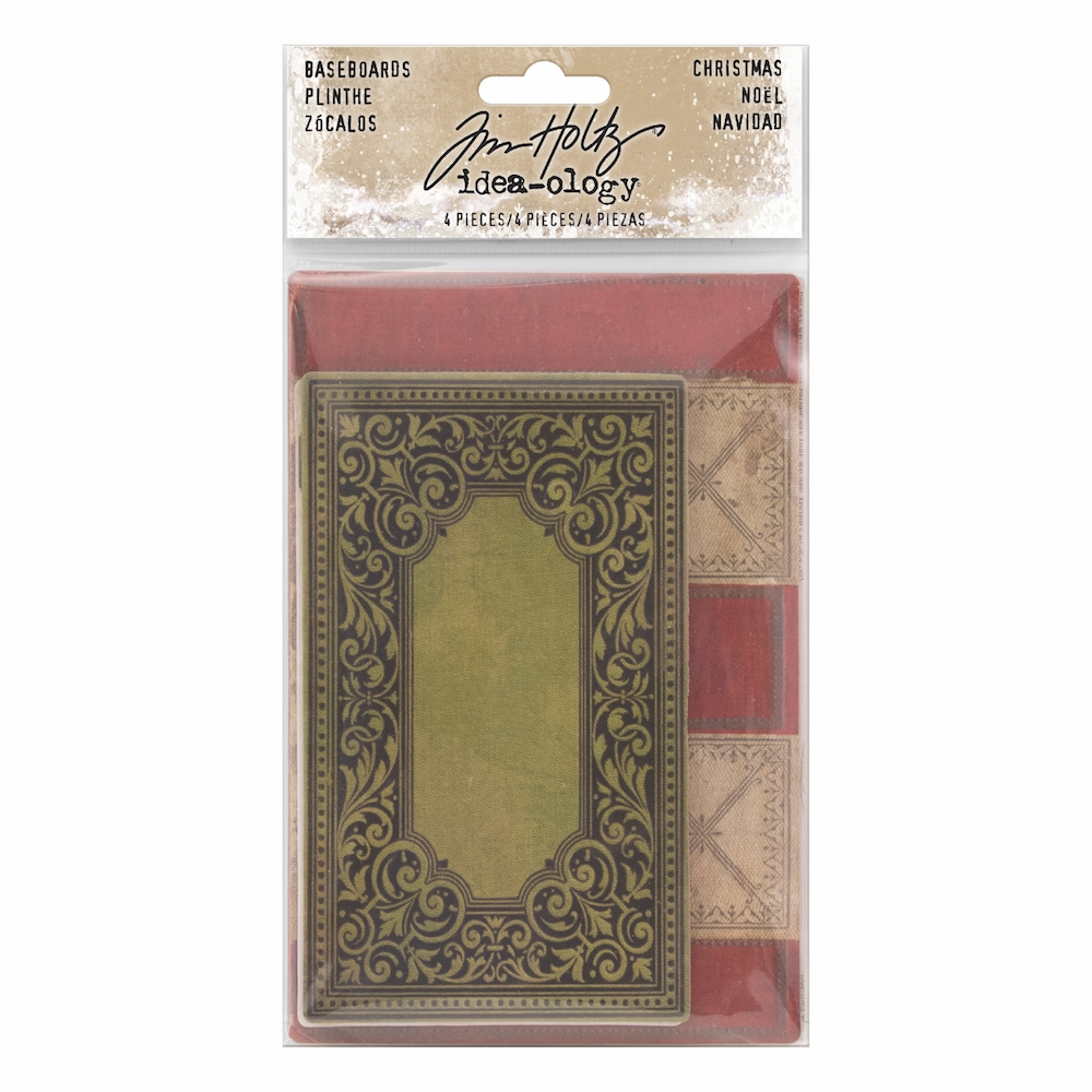 Tim Holtz Idea-ology CHRISTMAS BASEBOARDS Paperie TH93652 zoom image
