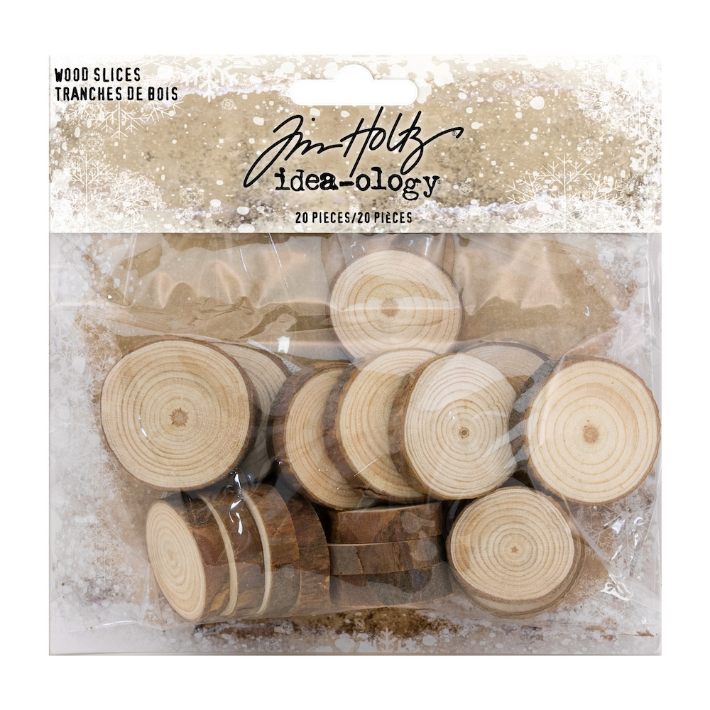 Tim Holtz Idea-ology WOOD SLICES Findings th93745 zoom image
