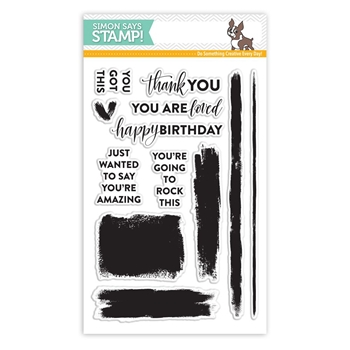 Simon Says Clear Stamps BRUSH STROKE MESSAGES SSS101711 *