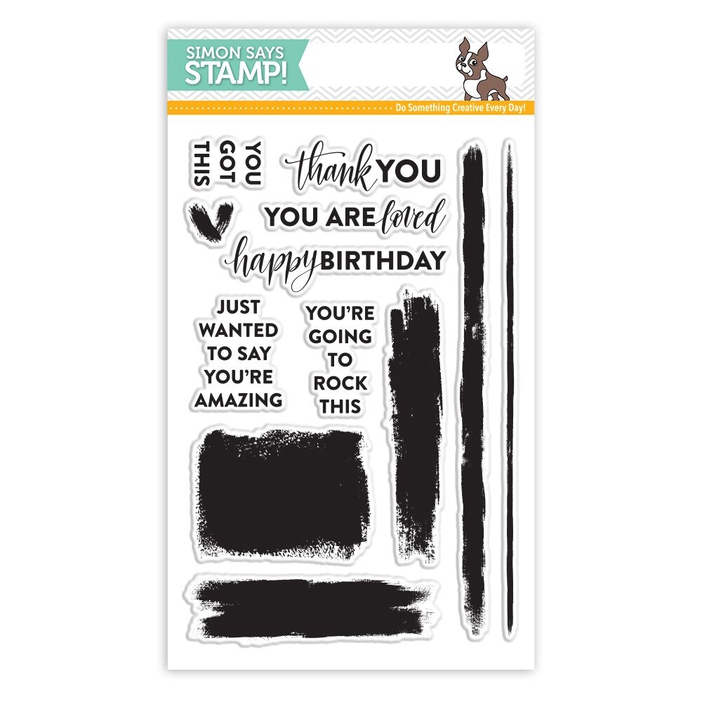 Simon Says Clear Stamps BRUSH STROKE MESSAGES SSS101711 * zoom image
