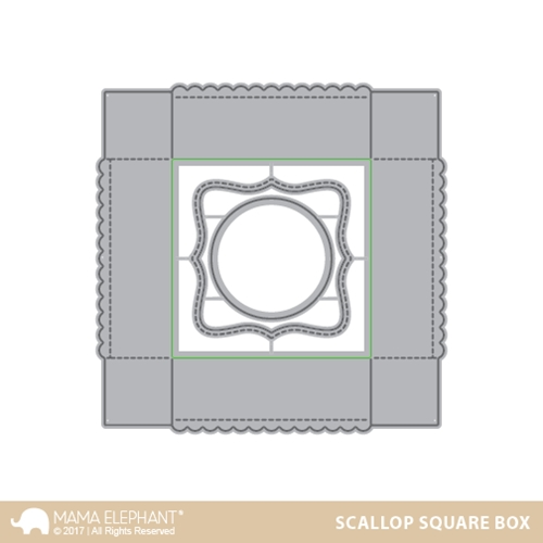 Mama Elephant SCALLOP SQUARE BOX Creative Cuts Steel Die Set * Preview Image