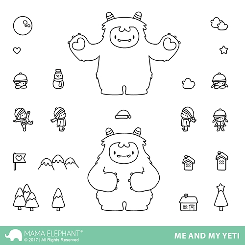 Mama Elephant Clear Stamps ME AND MY YETI Preview Image