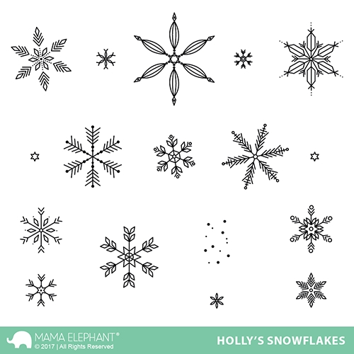Mama Elephant Clear Stamps HOLLY'S SNOWFLAKES  Preview Image
