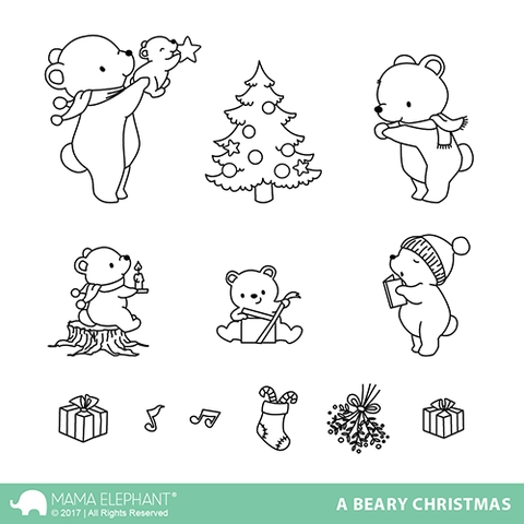 Mama Elephant Clear Stamps A BEARY CHRISTMAS zoom image