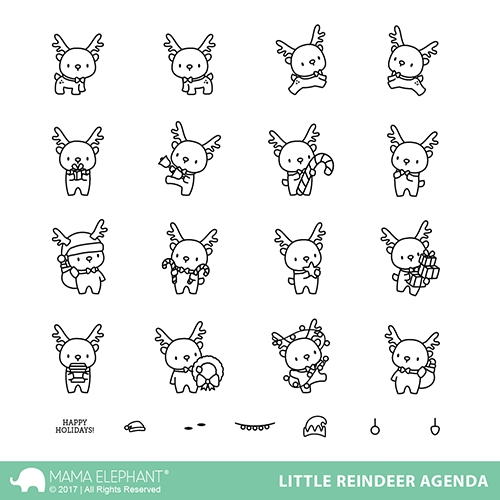 Mama Elephant Clear Stamps LITTLE REINDEER AGENDA Preview Image