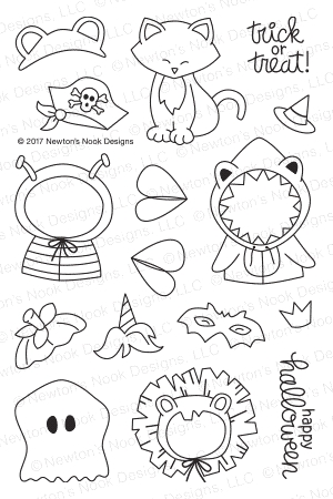 Newton's Nook Designs NEWTON'S COSTUME PARTY Clear Stamp Set NN1709S03* Preview Image