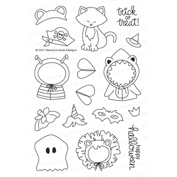 Newton's Nook Designs NEWTON'S COSTUME PARTY Clear Stamp Set NN1709S03*