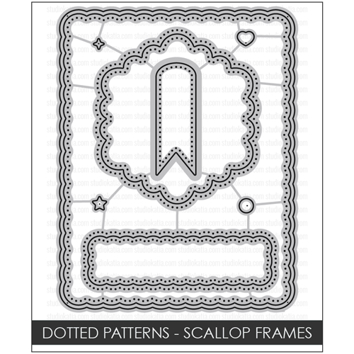 Studio Katia DOTTED PATTERNS SCALLOP FRAMES Creative Dies STK044 Preview Image