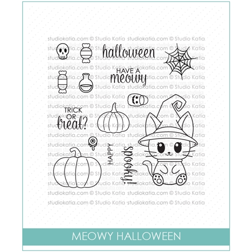 Studio Katia MEOWY HALLOWEEN Clear Stamps STKS031* Preview Image
