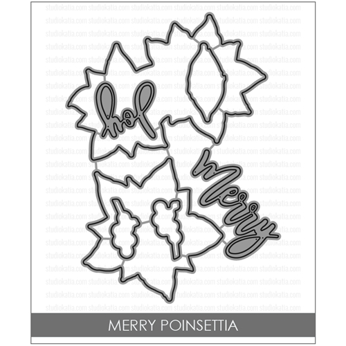 Studio Katia MERRY POINSETTIA Coordinating Dies STK042* Preview Image