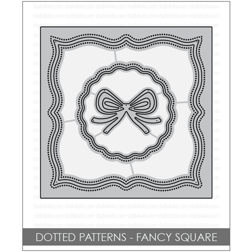 Studio Katia DOTTED PATTERNS FANCY SQUARE Creative Dies STK034* Preview Image