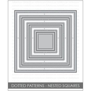 Studio Katia DOTTED PATTERNS NESTED SQUARES Creative Dies STK019