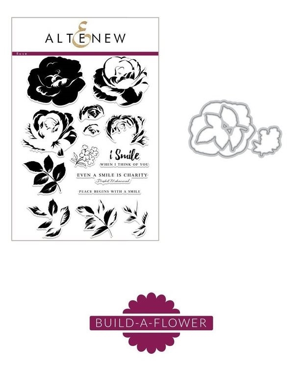 Altenew Build a Flower - Rose Clear Stamp and Die Set