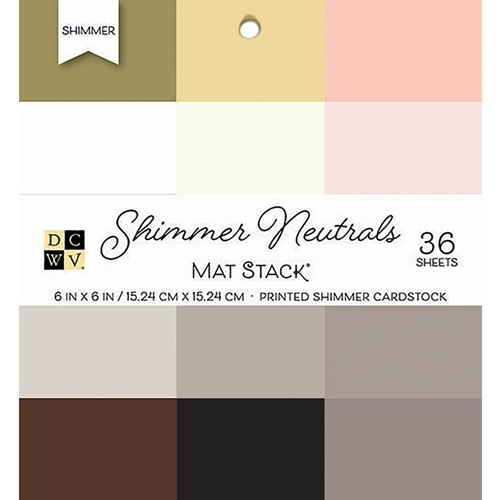 DCWV 6 x 6 SHIMMER NEUTRALS Cardstock Stack PS-006-00134 Preview Image