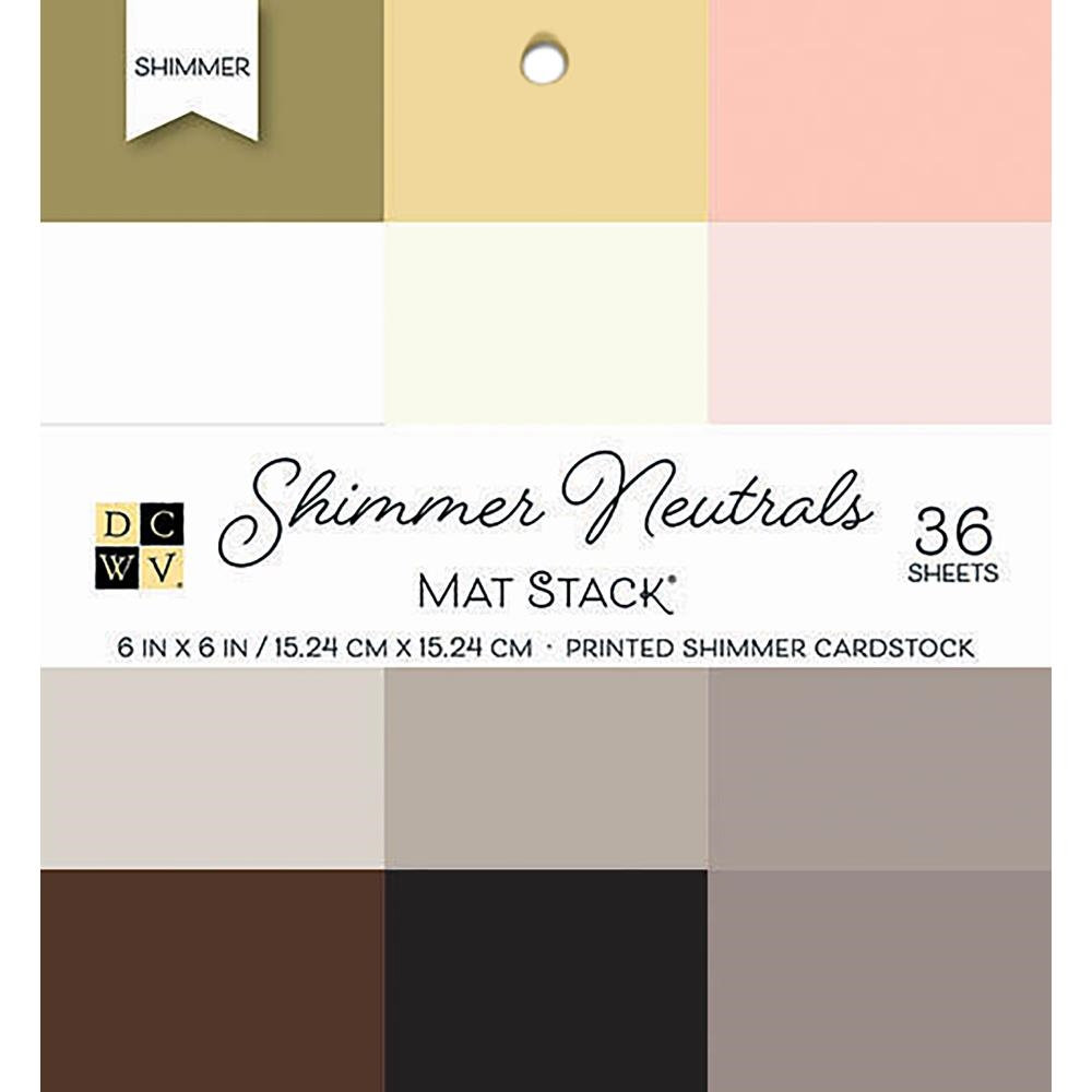 DCWV 6 x 6 SHIMMER NEUTRALS Cardstock Stack PS-006-00134 zoom image