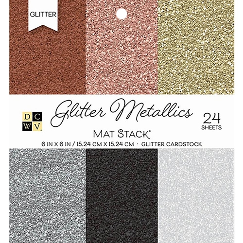 DCWV 6 x 6 GLITTER METALLICS Cardstock Stack PS-006-00118 Preview Image