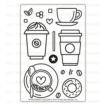 Honey Bee COFFEE BREAK Clear Stamp Set HBST-081