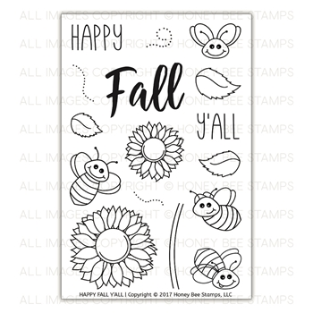 Honey Bee HAPPY FALL Y'ALL Clear Stamp Set HBST-078