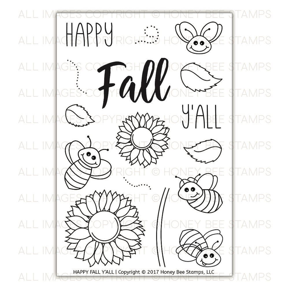 Honey Bee HAPPY FALL Y'ALL Clear Stamp Set HBST-078 zoom image