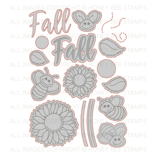 Honey Bee HAPPY FALL Y'ALL Dies HBDS-078 Preview Image