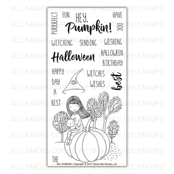 Honey Bee HEY PUMPKIN Clear Stamp Set HBST-083*