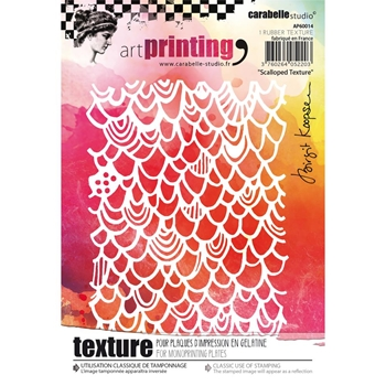 Carabelle Studio SCALLOPED TEXTURE Art Printing Texture Plates for Monoprinting AP60014