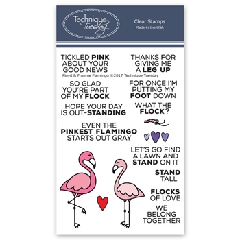 Technique Tuesday FLOYD AND FRANNIE FLAMINGO Clear Stamps 02522