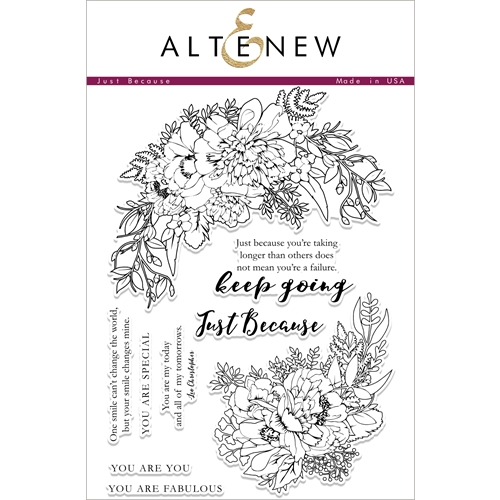 Altenew JUST BECAUSE Clear Stamp Set ALT1876* Preview Image