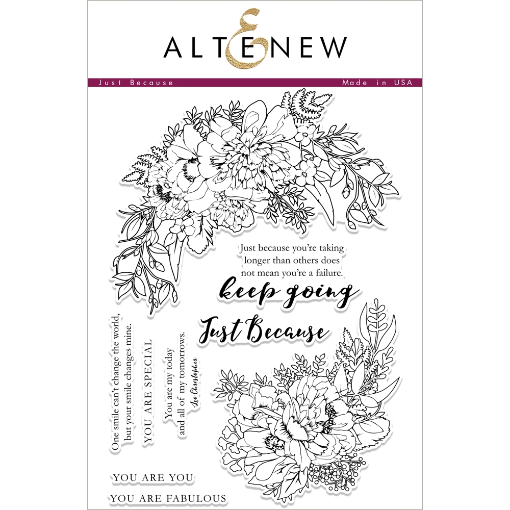 Altenew JUST BECAUSE Clear Stamp Set ALT1876* zoom image