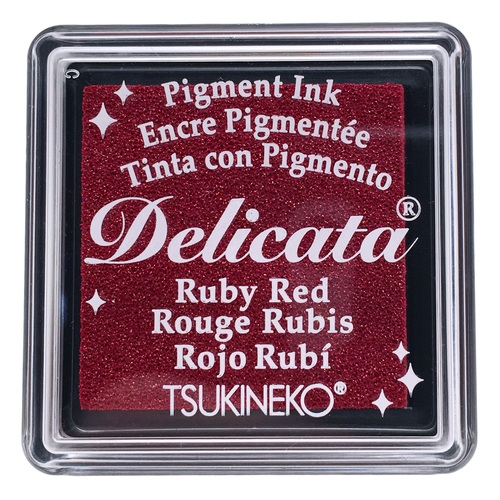 Tsukineko Delicata SMALL RUBY RED Ink Pad DESML325 zoom image