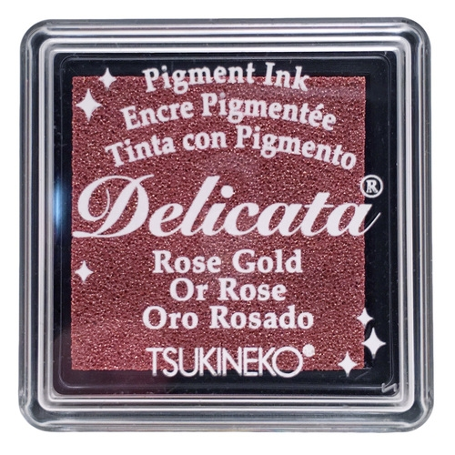 Tsukineko Delicata SMALL ROSE GOLD Ink Pad DESML357 Preview Image