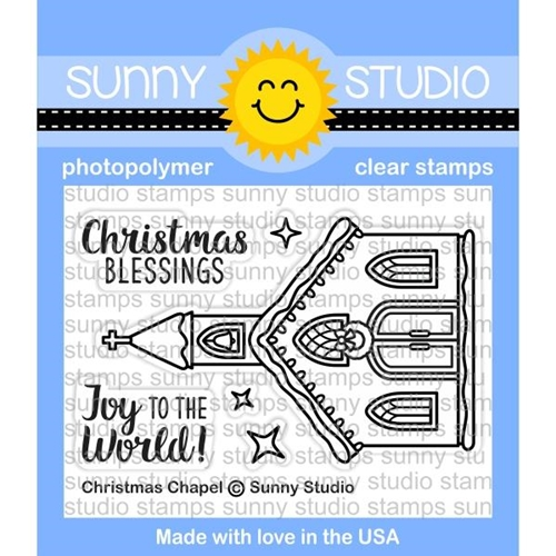 Sunny Studio CHRISTMAS CHAPEL Clear Stamp Set SSCL 178 Preview Image