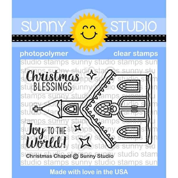Sunny Studio CHRISTMAS CHAPEL Clear Stamp Set SSCL-178 zoom image