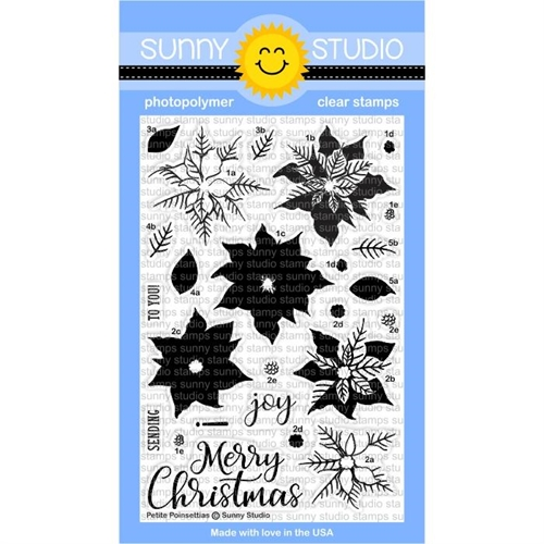 Sunny Studio PETITE POINSETTIAS Clear Stamp Set SSCL-175 Preview Image