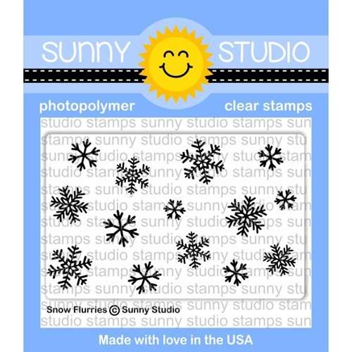 Sunny Studio SNOW FLURRIES Clear Stamp Set SSCL-180 Preview Image