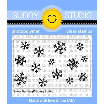 Sunny Studio SNOW FLURRIES Clear Stamp Set SSCL-180*