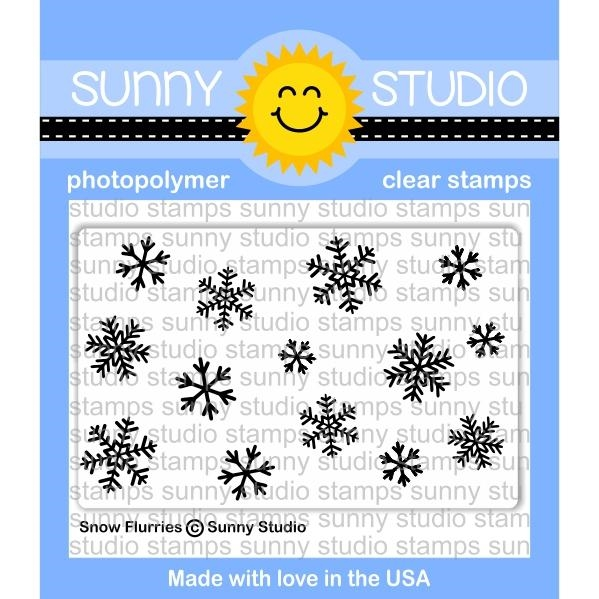 Sunny Studio SNOW FLURRIES Clear Stamp Set SSCL-180 zoom image