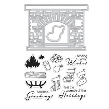 Hero Arts Stamp And Cuts WINTER HEARTH DC221*