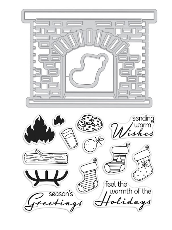 Hero Arts Stamp And Cuts WINTER HEARTH DC221 zoom image