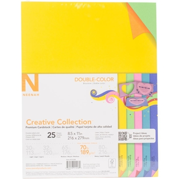 Neenah DOUBLE-COLOR 70 LB Creative Collection Premium Cardstock 91208*