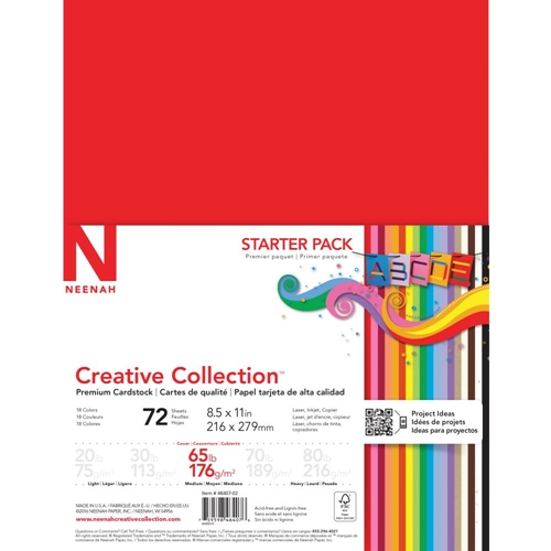 Neenah STARTER PACK 65 LB Premium Cardstock Creative Collection 46407 Preview Image