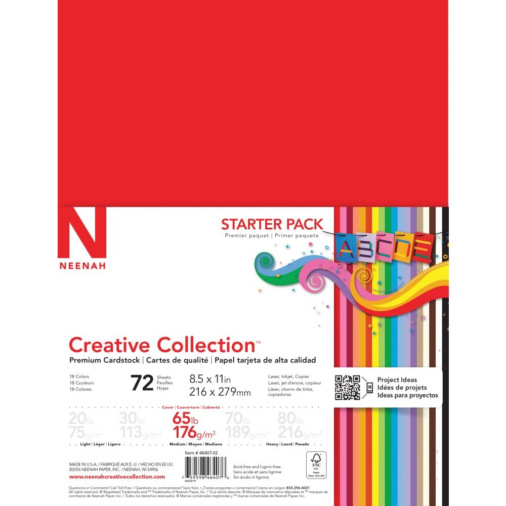 Neenah STARTER PACK 65 LB Premium Cardstock Creative Collection 46407 zoom image