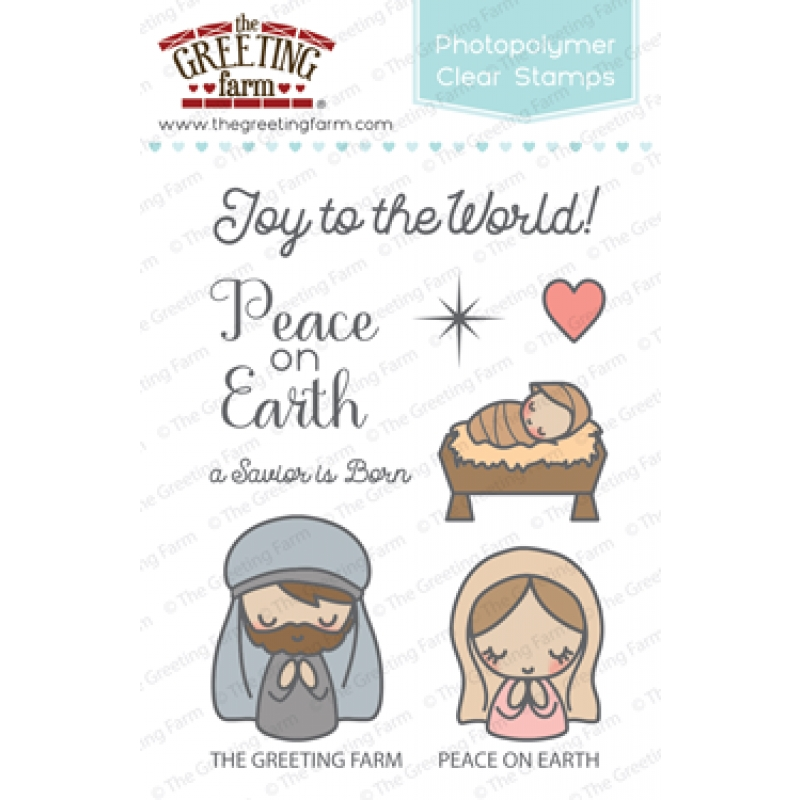 The Greeting Farm PEACE ON EARTH Clear Stamps TGF346 zoom image