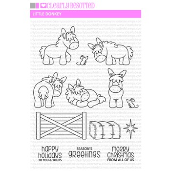 Clearly Besotted LITTLE DONKEY Clear Stamp Set*