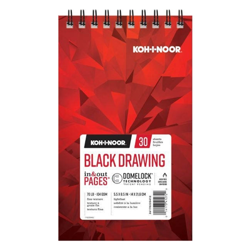 KOH-I-NOOR BLACK DRAWING 5.5x8.5 Paper 26170220412* Preview Image