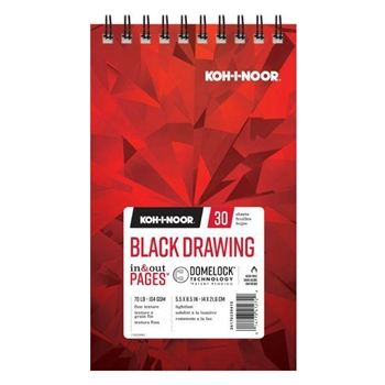 KOH-I-NOOR BLACK DRAWING 5.5x8.5 Paper 26170220412*