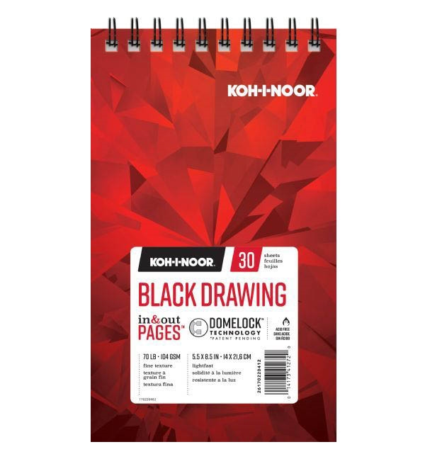 KOH-I-NOOR BLACK DRAWING 5.5x8.5 Paper 26170220412* zoom image