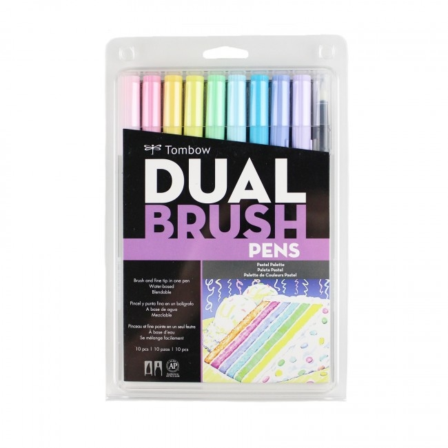 Tombow PASTEL Dual Brush Pens 10 Pack 56187 zoom image