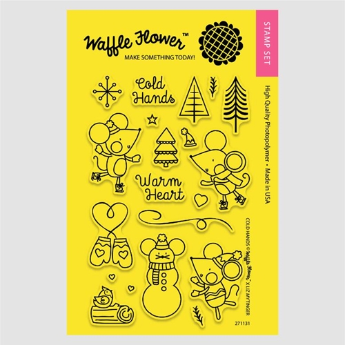 Waffle Flower COLD HANDS Clear Stamp Set 271131* Preview Image